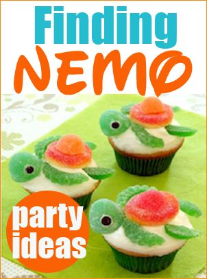 Finding Nemo Party Ideas. Fun ideas for a kids fish birthday party. Celebrate with beach themed food and desserts. Perfect for a boy or girl birthday party.