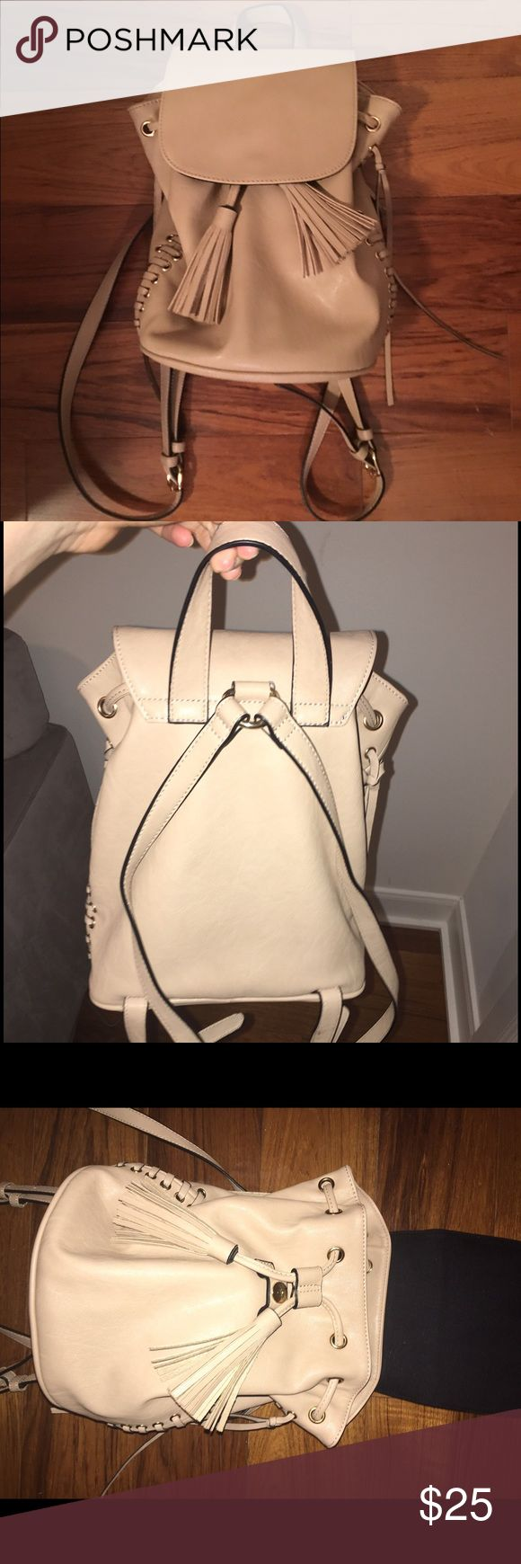 Backpack ✔️⚡️ Beige backpack Only Carried once Perfect condition  No stains or damages Perfect condition Forever 21 Bags Backpacks