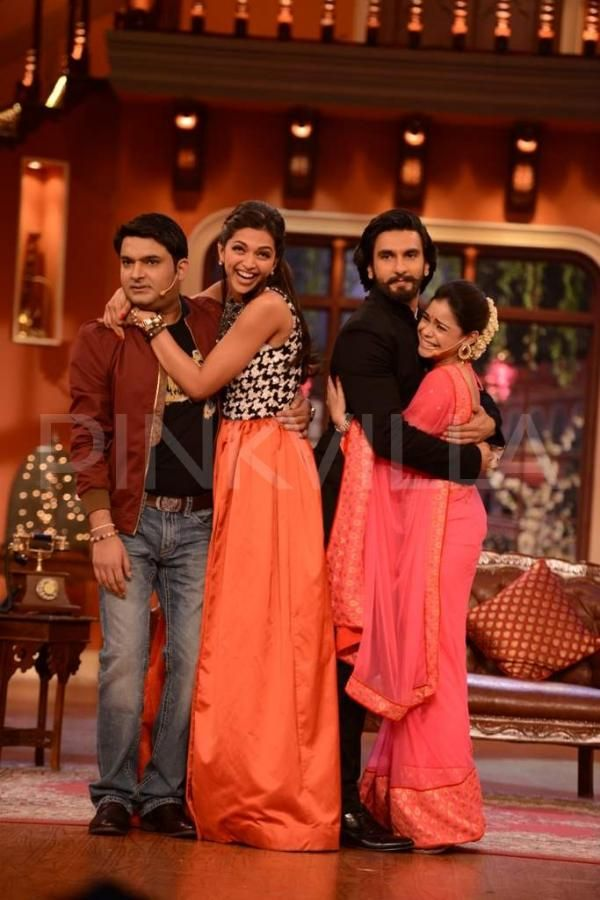 Deepika and Ranveer promote Ram-leela on Comedy Nights ...