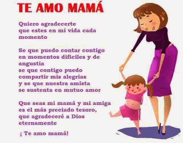 Bellos poemas cortos para mama