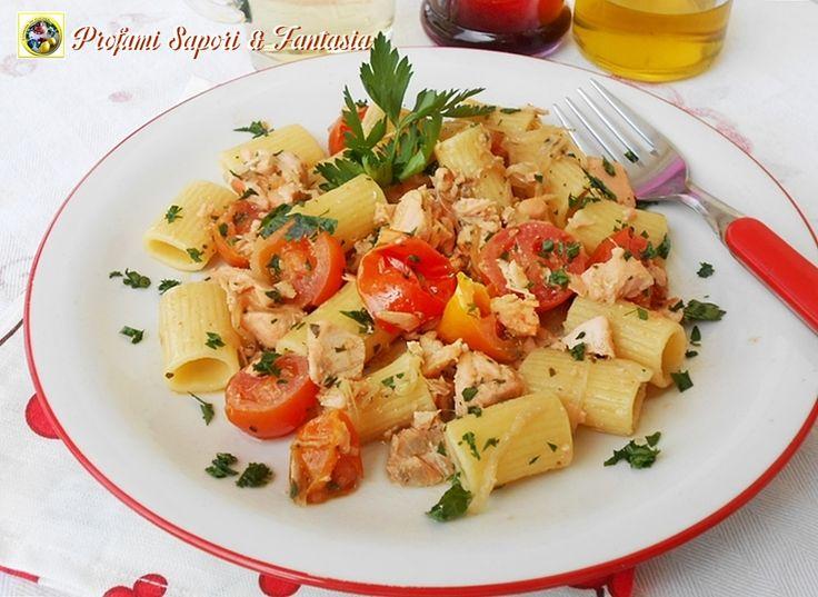 Pasta con salmone fresco e pomodorini  Blog Profumi Sapori & Fantasia