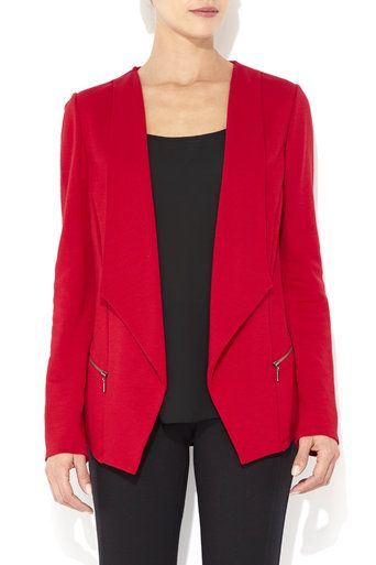 Red Morgan Drape Jacket #MyChristmasStory