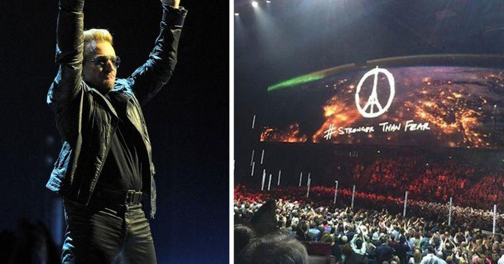 Οι U2 συντάραξαν το Μπέλφαστ - Χαμός στην πρώτη συναυλία μετά το Παρίσι.   Αν θέλει η Ευρώπη «την καρδιά της ανοιχτή ή τα σύνορά της κλειστά στο έλεος» ρώτησε ο Μπόνο το κοινό της συναυλίας στο Μπέλφαστ. Μια συναυλία που έγραψε τη δική της μοναδική σελίδα στην ιστορία των μουσικών εμφανίσεων του συγκροτήματος.