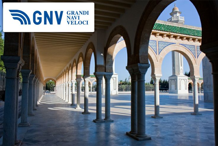 Explore #Monastir and discover the #Mausoleum of Habib #Bourgiba : statesman, founder and first President of the modern Republic of Tunisia from 1957 to 1987.  Discover routes from/to #Tunisia here: http://www.gnv.it/en/ferries-destinations/tunisia-tunisi-en.html