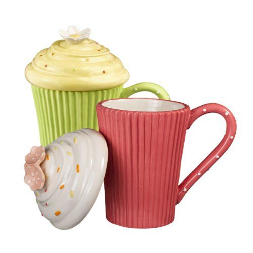 568309217d485e171f6304ce08edd059  coffee cupcakes cute cupcakes Coffee Mugs With Lids Green Cupcake Cocoa Coffee Mugs With Lids  Oz Sculpted Novelty Ceramic Ebay