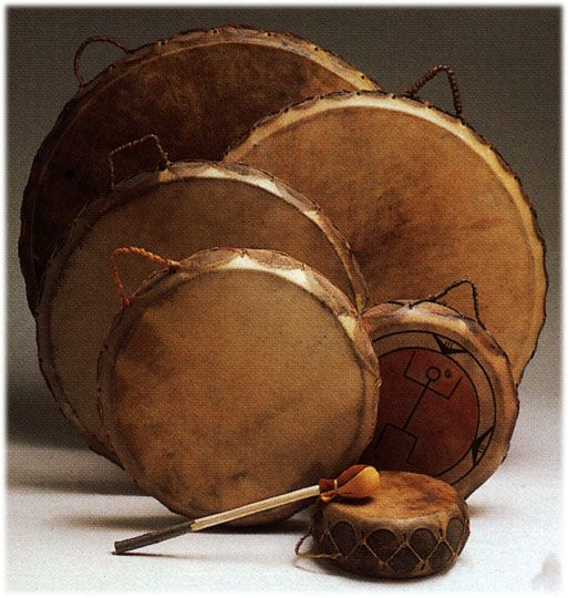 Sioux DRUMS of the southwest, Native American Indian Southwestern hand drums
