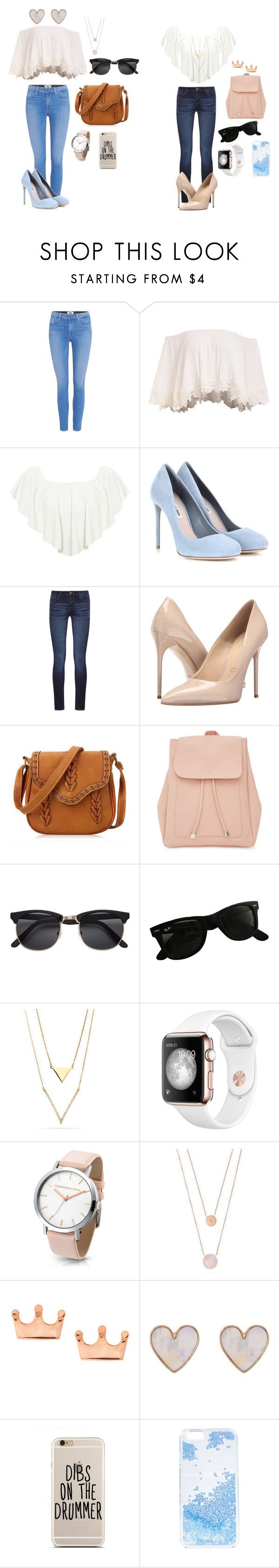 """Outfits para una cita"" by sofia-alonsopopular on Polyvore featuring Paige Denim, WearAll, Miu Miu, DL1961 Premium Denim, Massimo Matteo, New Look, Ray-Ban, Michael Kors y Skinnydip"