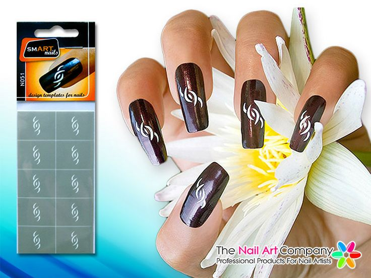 82 best stencil nailart images on pinterest vinyls nail the nail art company smart nails the swimmer nail art stencil set n051 prinsesfo Images