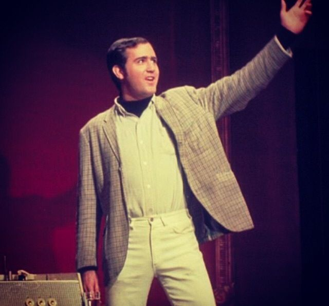 """""""Here I come to save the day!"""" Andy Kaufman performs Mighty Mouse."""