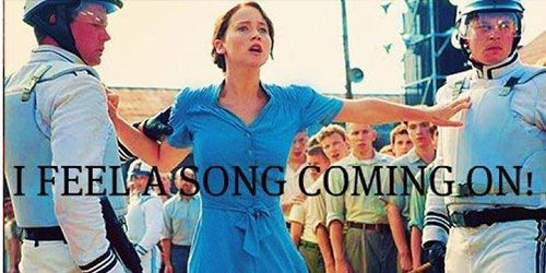 Katniss Everdeen Breaking Into Song