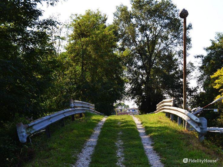 Siamo in viaggio, camminiamo in una strada parallela al fiume Brenta, ed ecco un po' di salita.