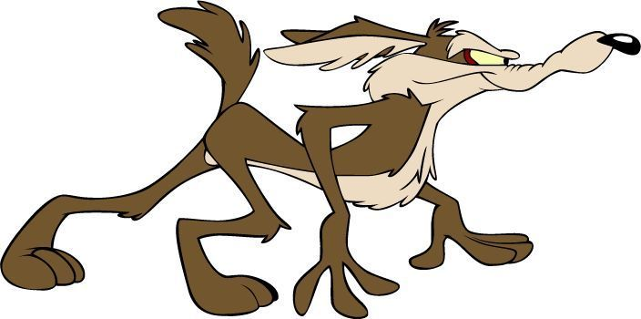 "Coyote Vynil Car Sticker Decal  5/"" Road Runner Wile E"