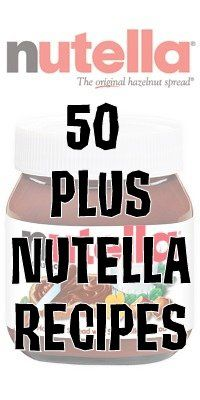 50 PLUS Nutella Recipes ~ * THE COUNTRY CHIC COTTAGE (DIY, Home Decor, Crafts, Farmhouse)
