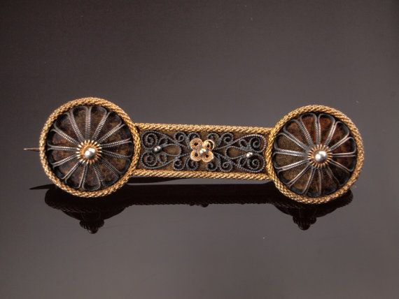 David Andersen Antique Brooch Silver n Gold by BelmontandBellamy