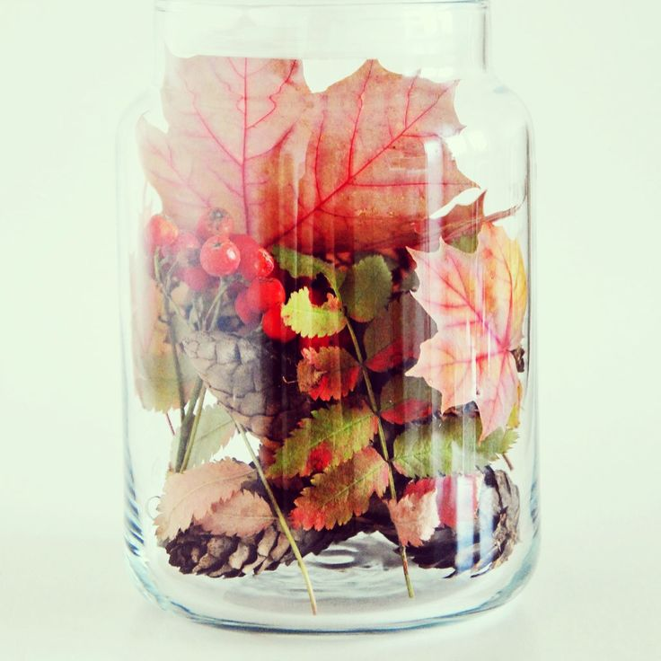 Fall in a jar
