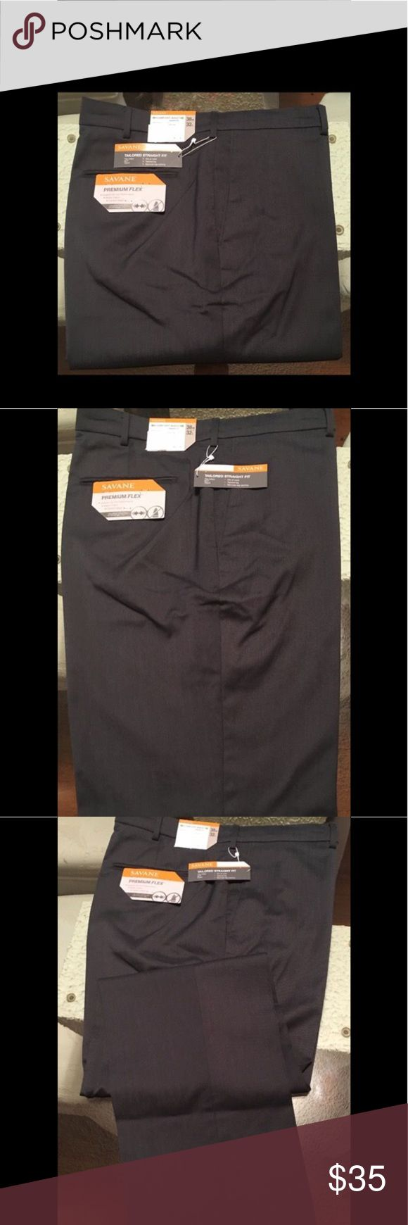 """MENS PREMIUM FLEX MICRO TIC STRETCH DRESS PANTS ✅ """" SAVANE """" MEN'S PREMIUM FLEX MICRO TIC STRETCH DRESS PANTS✅ * At first sight. These men's SAVANE dress pants make an instant impression with their tailored fit and modern styling !! 😀  ( BIN# U70-8429 ) NEW NEW !!  GET IT !  🎁 SAVANE Pants Dress"""