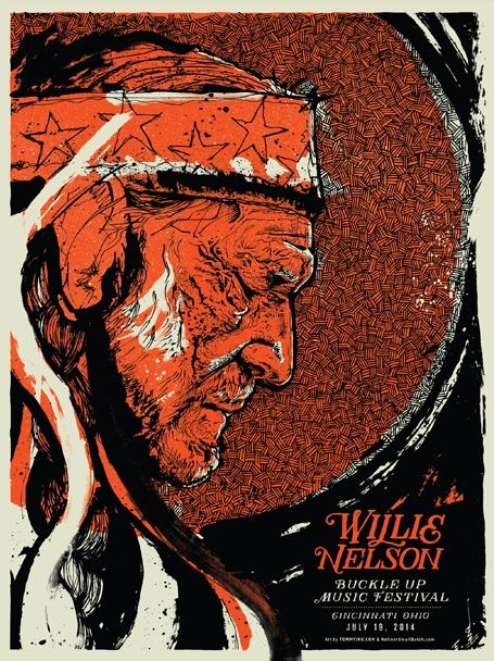 Willie Nelson gig posters - print mag