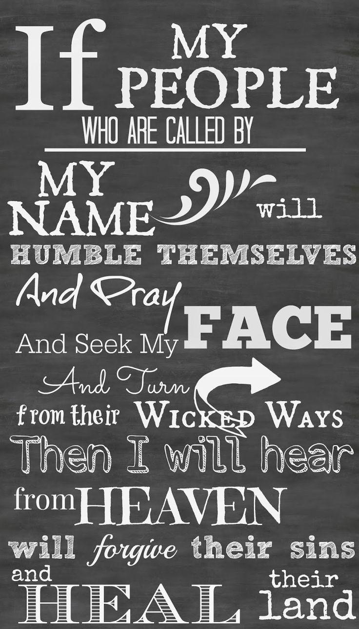 PRINTABLE CHALKBOARD ART 2 CHRONICLES 7:14