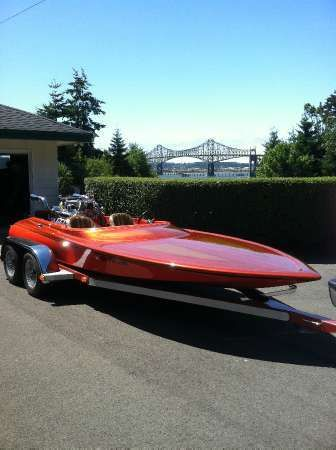 images of V-drive Boat 454 Chevy With Blower   1978 SANGER V-Drive Coos Bay OR
