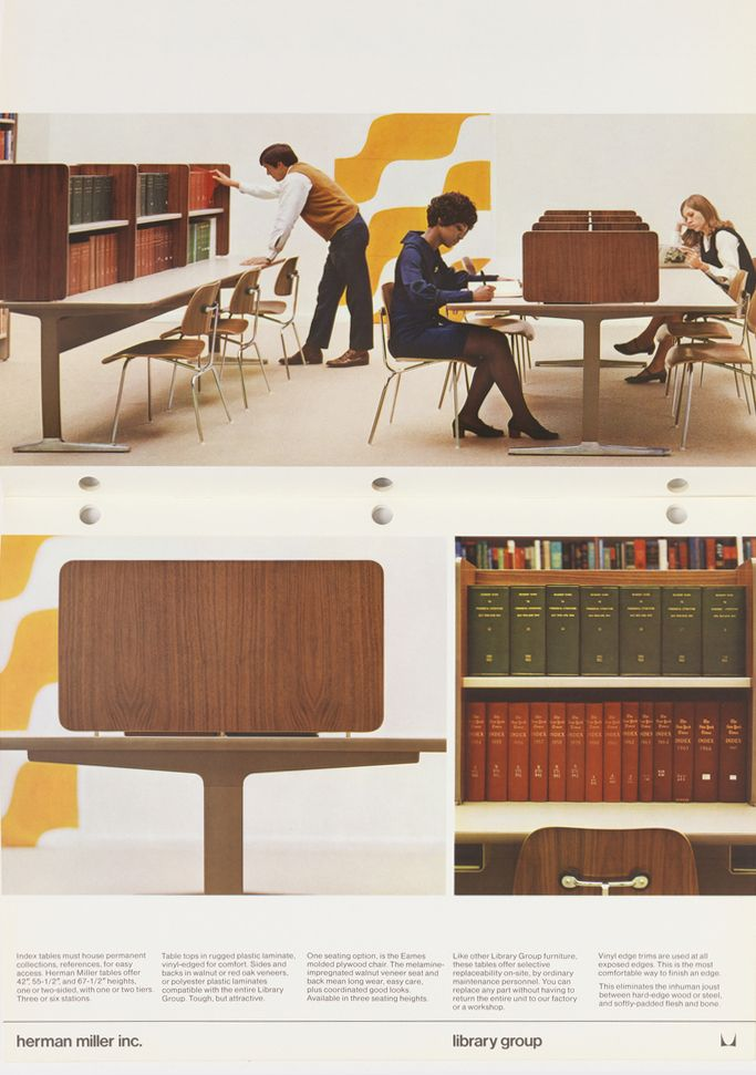 Design Is Fine: U201c Trade Catalog, Library Furniture, Designed By Charles  Eames And Written/published By Herman Miller. Via Cooper Hewitt U201d