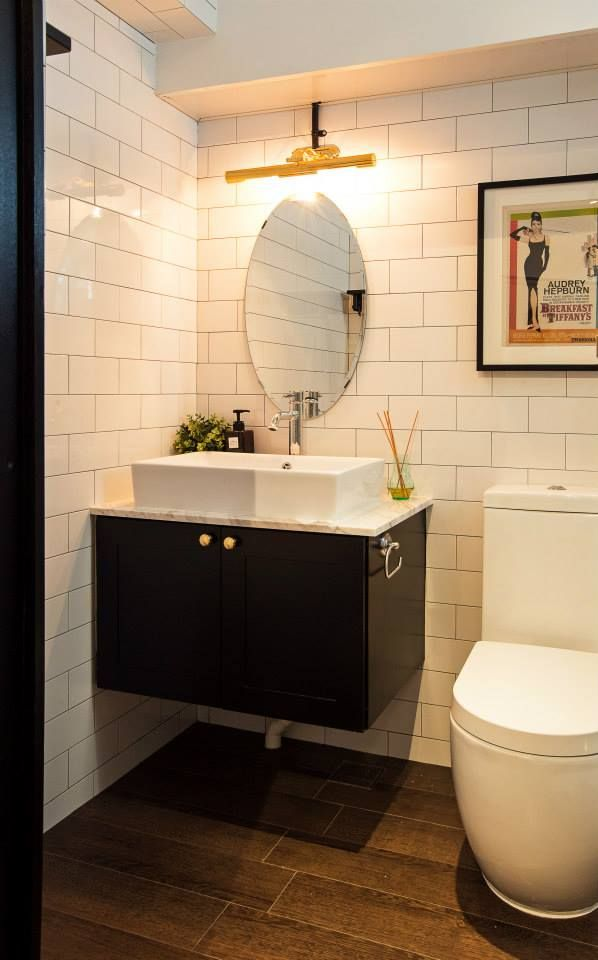 SUbway tiles for toilet | Singapore HDB flat by JQ Ong/ The Association