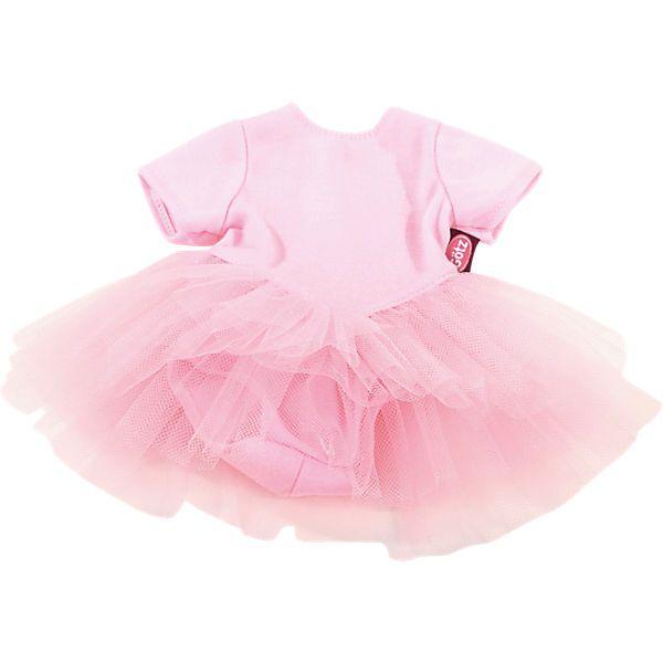 Deine Lieblingspuppe ist eine echte Ballerina? Dann solltest du ihr auch das richtige Outfit dafür verpassen.<br /> <br />  Dieser bezaubernde Ballettanzug ist da genau der richtige Dress! Geh gemeinsam mit deinem Liebling in den Ballettunterricht oder genießt eine Aufführung im Publikum.  <br /> <br /> <br /> <br /> +++Details+++<br /> <br /> + Ballettanzug in Pink<br /> <br /> + ge...