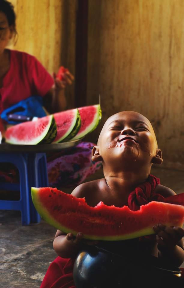 This is also how I feel when eating watermelon.