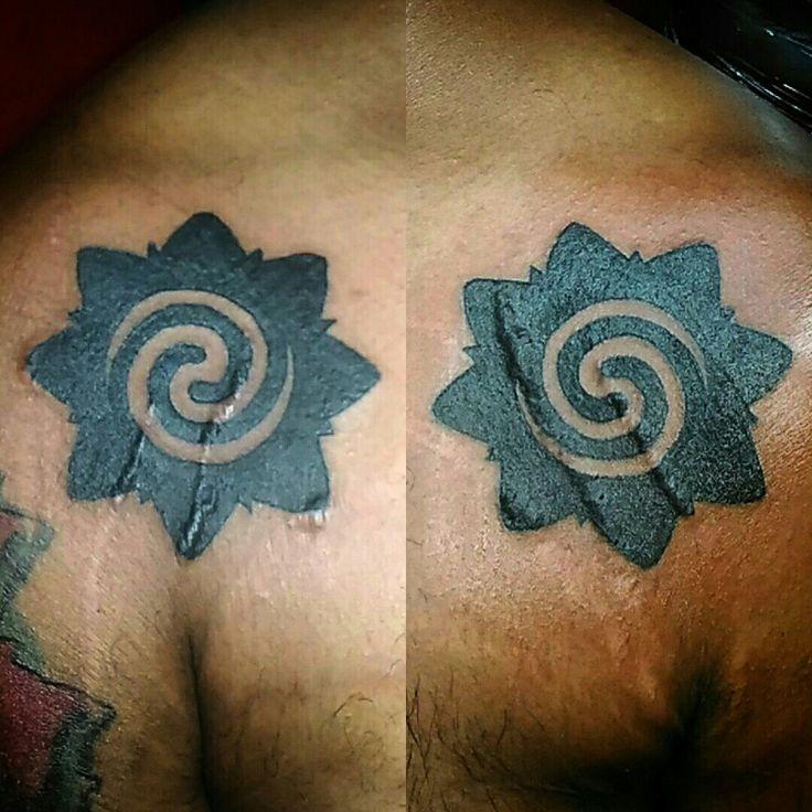 Bunga terung tribal borneo