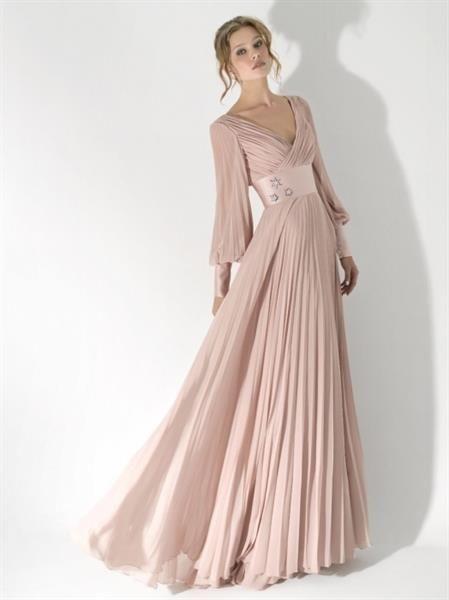 Модели вечернее платье с длинным рукавом