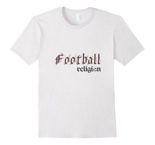 Amazon.com: Elexonic Custom Products:Football Religion T-Shirt: Clothing