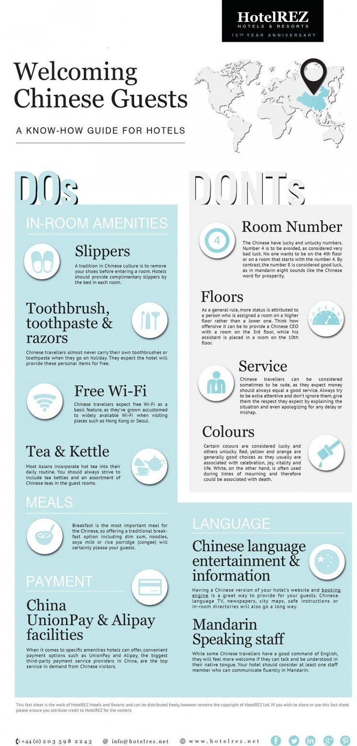 Welcoming Chinese Guests [INFOGRAPHIC] #Chinese #guests #hotel