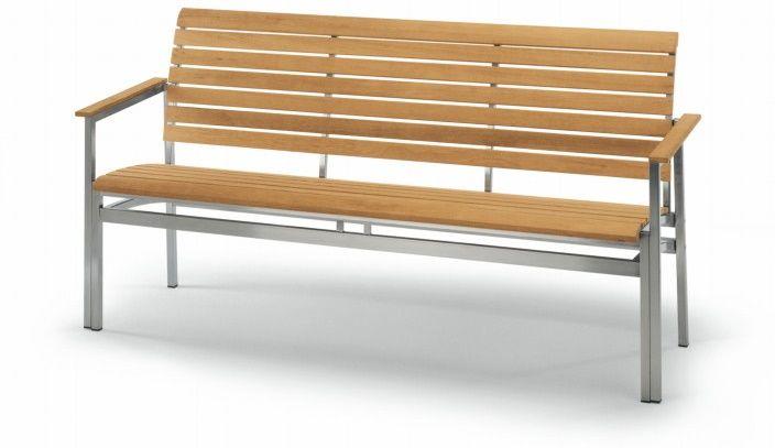Gartenbank Alu Geflecht Sandy Teak Holz Fischer Outdoor Sitzbank Lapiazza Bench Arm Gartenbank Gartenbank Holz Teak