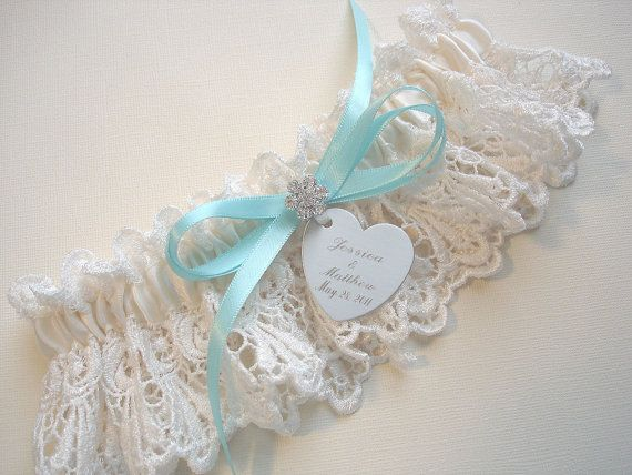 Personalized Garter Wedding Garter in Ivory by MakeThisDaySpecial, $34.00