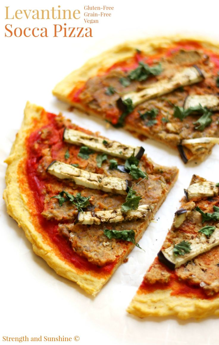 ... pizza recipe baked in a cast iron skillet! Levantine Socca Pizza is