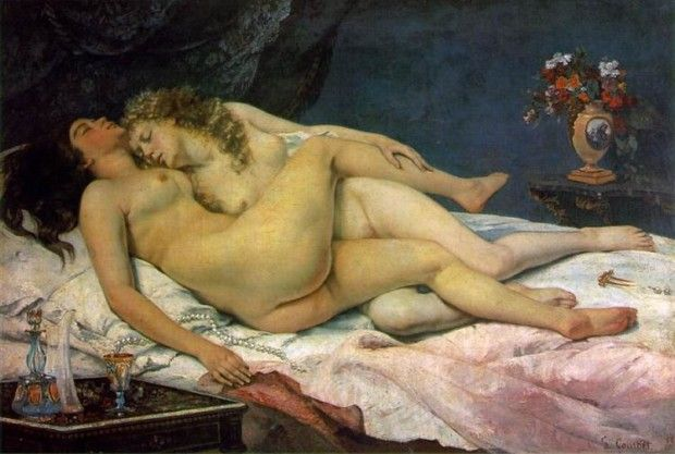 Gustave Courbet,The Sleepers (Le Sommeil), 1866, Petit Palais, Paris esbianism in art