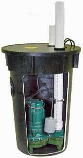 Zoeller Sewage Ejector with basin