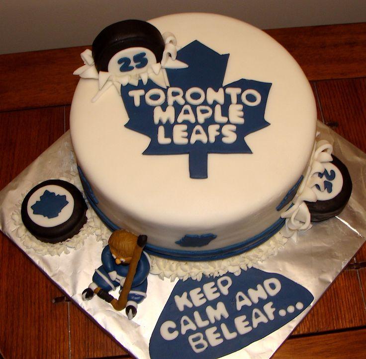Toronto Maple Leaf's Cake made by Amy from cakeyourdayspecial.wordpress.com