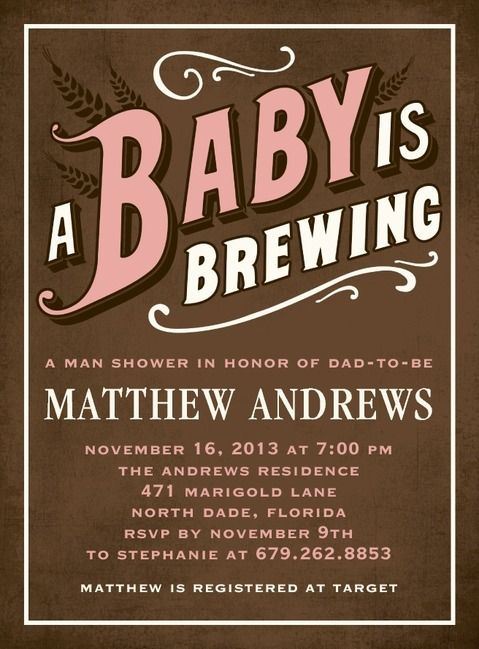Beer Belly: Taffy   Baby Shower Invitations In Taffy