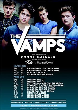 | THE VAMPS EXCITED FOR THEIR UK TOUR STARTING THIS MONTH! | http://www.boybands.co.uk
