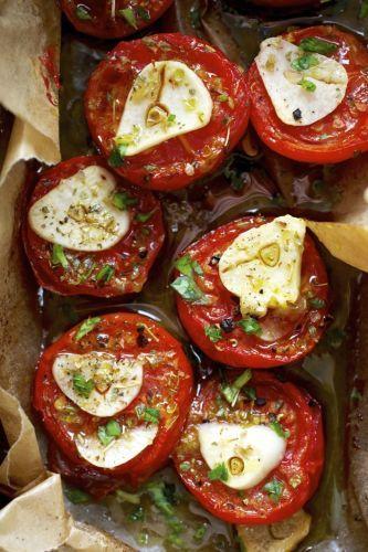 Tomates secos no forno