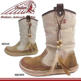 Indian boots women's Pecos Indian boots ID-1214 boots sneakers Indian ladies インディアンモト cycle ladies-