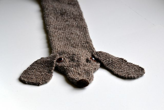 Knitted Dachshund Pattern : Dachshund Scarf pattern by Morehouse Designs