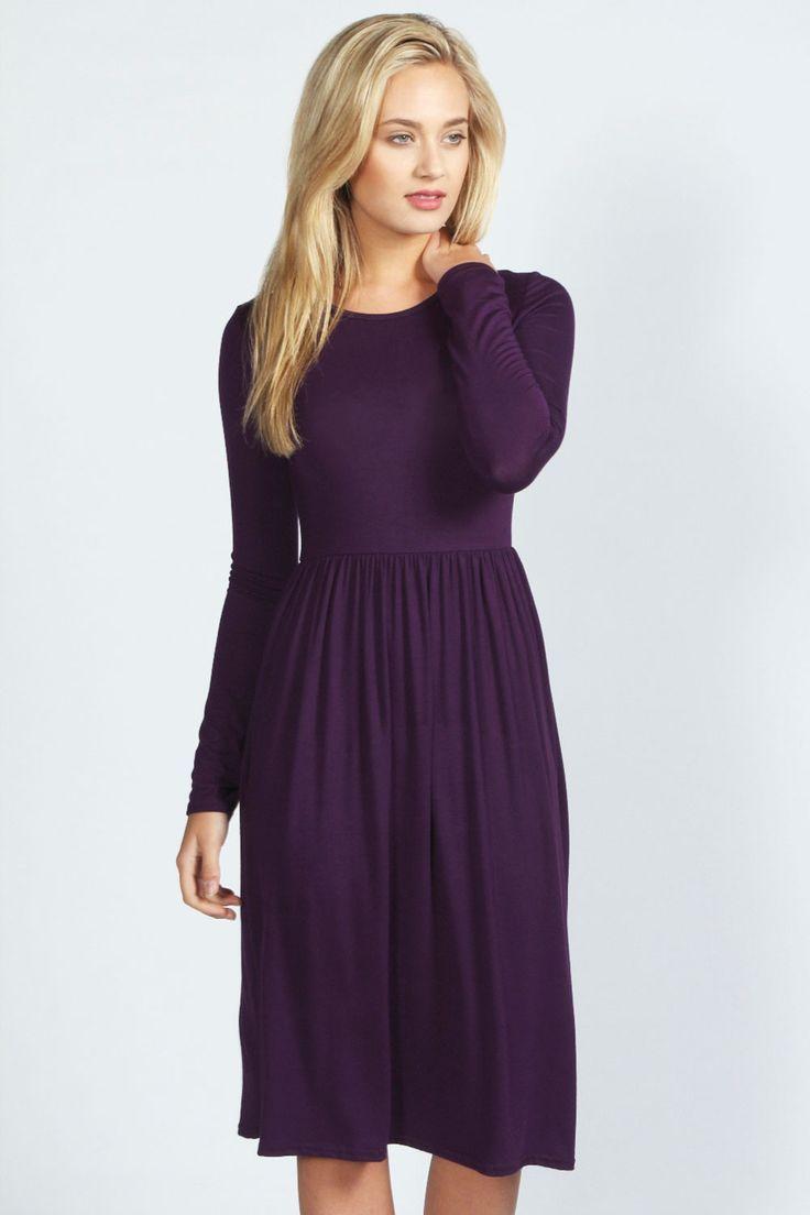 25+ best Long Sleeve Midi Dress trending ideas on Pinterest   Long