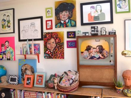 There are several styles of gallery walls. If you prefer a clean and minimal look, use pieces in the same color scheme and in similar frames or a theme like family portraits. Bohemian more your vibe? Mix matched frames, styles and textures will magically come together once hung on a wall side by side.