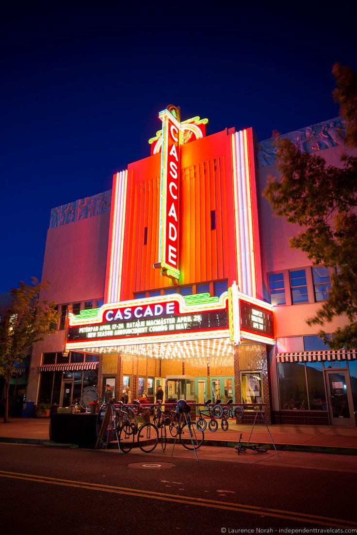 The historic Art Deco Cascade Theater in downtown Redding, California Call Redding Home! www.corymeyer.com