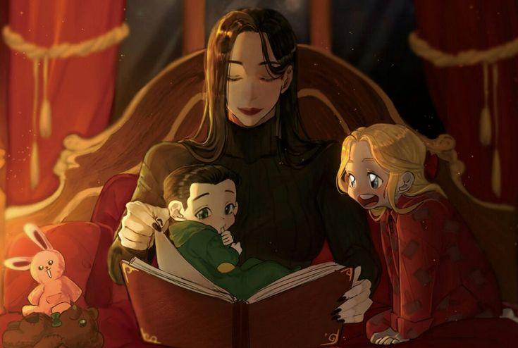 Sis Hela, baby Loki & Thor || Cr: 한아