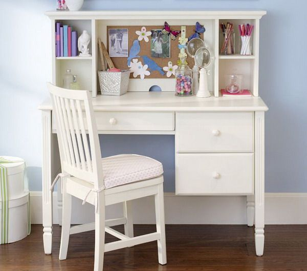Girls Bedroom Ideas with Small White Study Desk and Chair this is ...