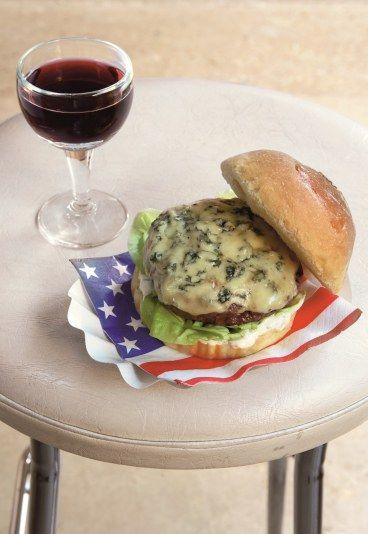 Hamburger au bleu : recette du hamburger au bleu - Hamburger: 8 recettes de burgers maison