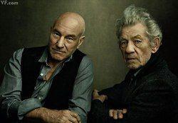 Patrick Stewart and Ian McKellen by Annie Leibovitz