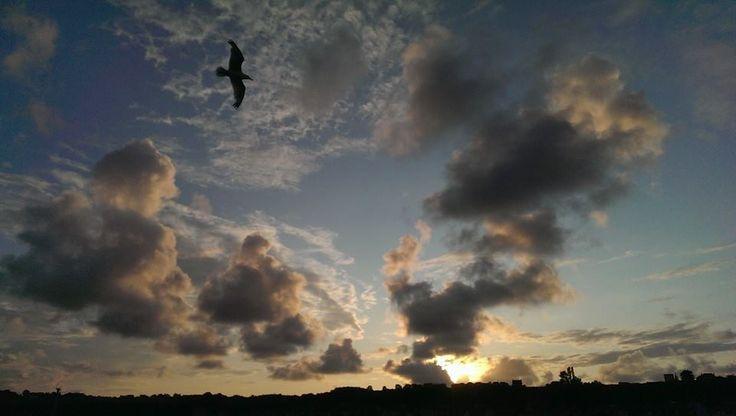Il #tramonto sull'#oceano che bagna #Cancale